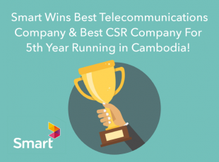 Smart Axiata Named Best Telecommunications Company and Best CSR Company in Cambodia Fifth Time in a Row!