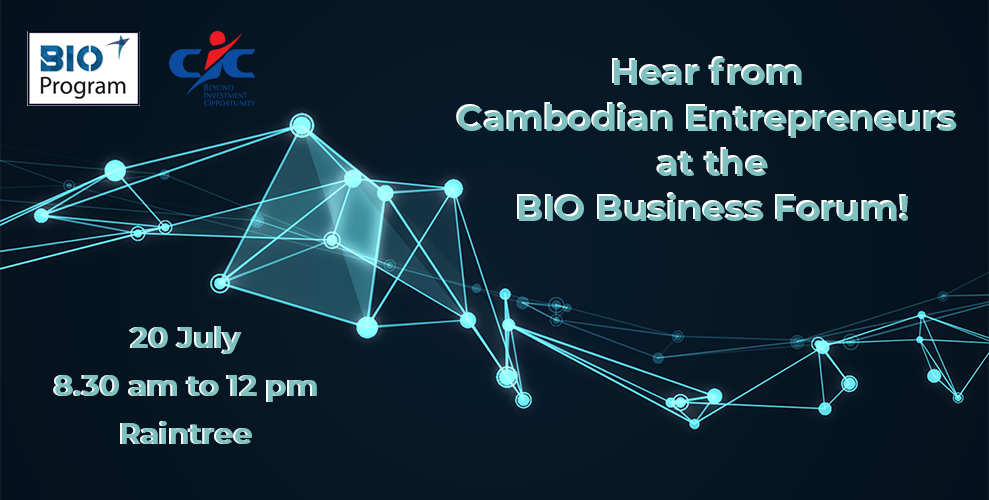 Hear from Cambodian Entrepreneurs at the BIO Business Forum!
