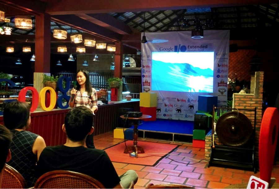 Mrs. Suy Channe present about Women and Technology