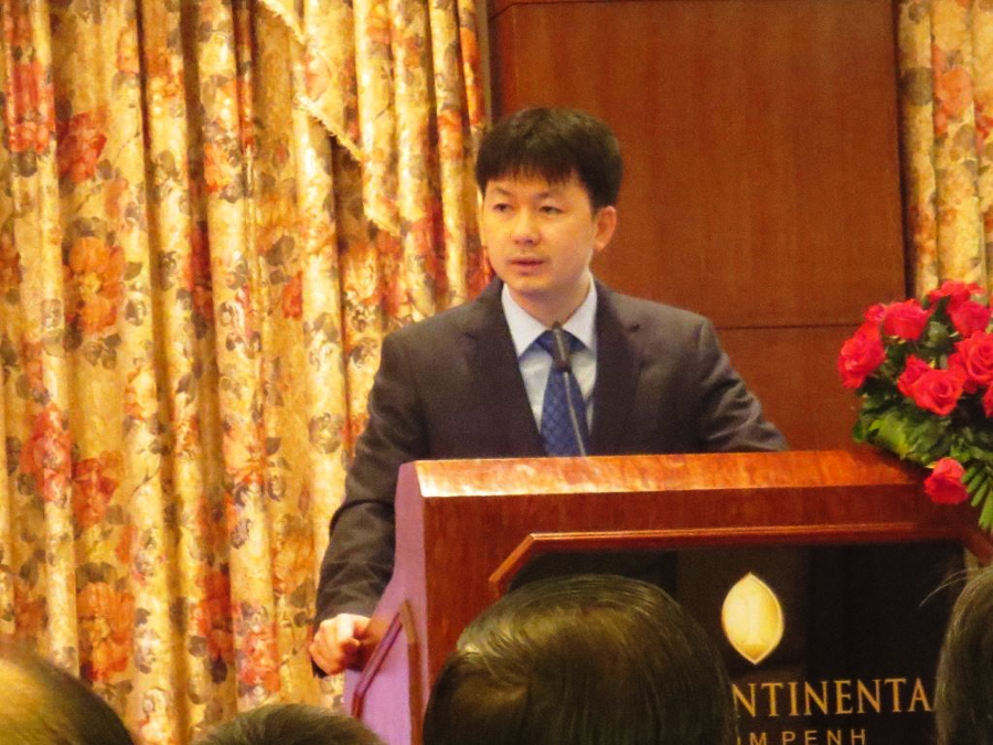The CEO of SOMA Group and the Chairman of  ICTF, Mr. Sok Puthyvoth, gave his speech about ICT sector