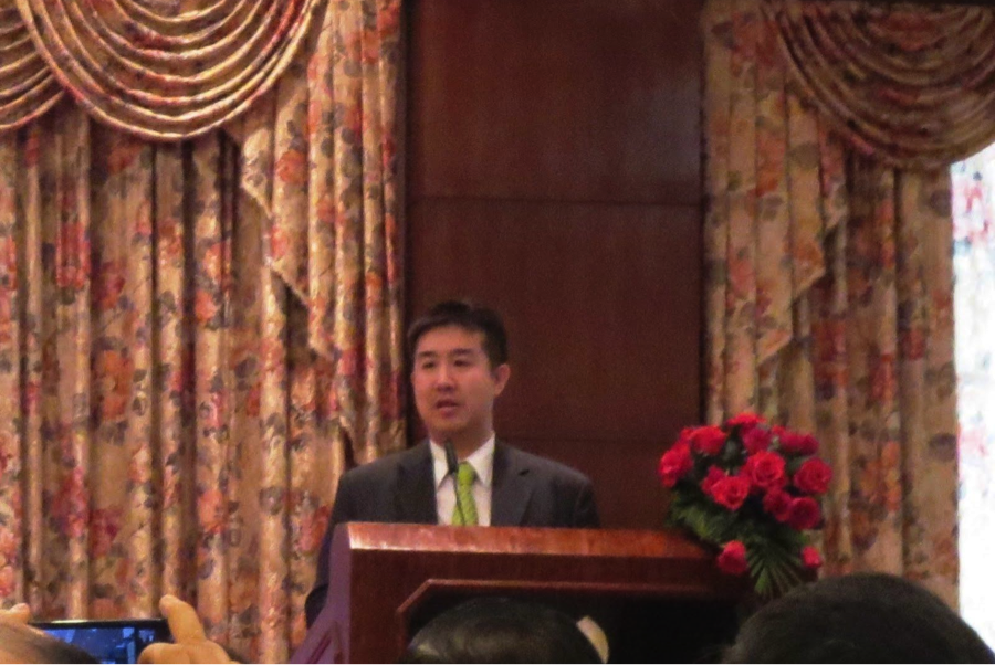 Mr. Pily Wong, CEO of MDP Cambodia and the vice chairman of the ICTF, gave his speech about IT development