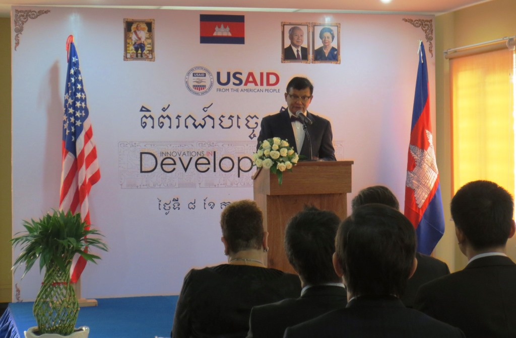H.E. Hang Chuon Naron, minister for Education, Youth and Sport, shared his speech about education in Cambodia