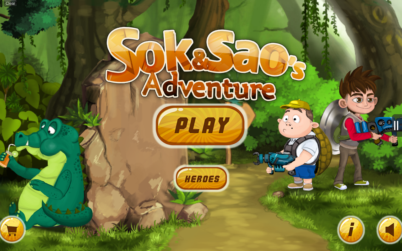 The opening screen of Sok and Sao's Adventure