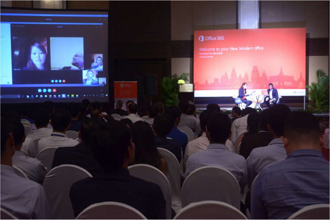 Skype For Business is demonstrated at the Office 365 Launch event