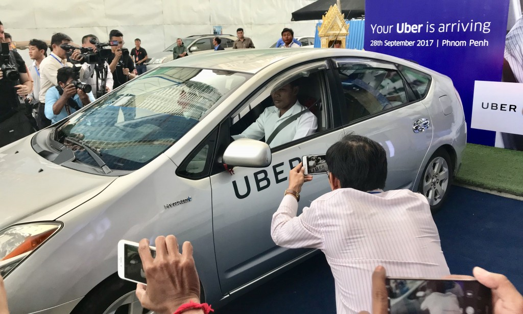 The first official Uber ride in Cambodia was done during the launch itself