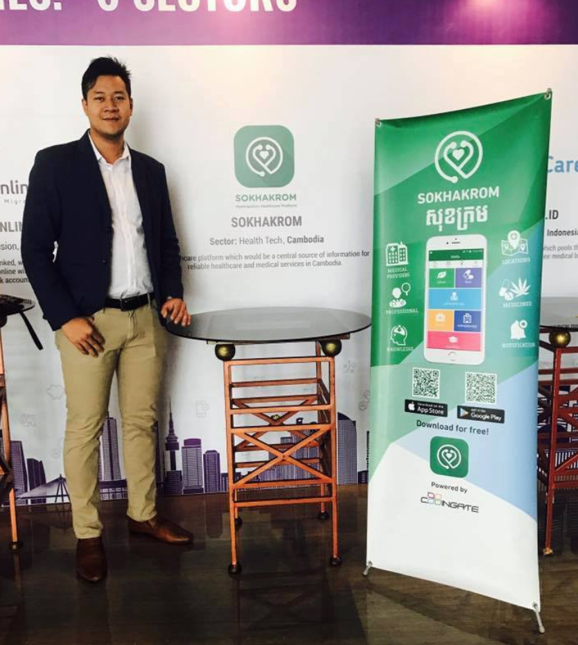 CEO and Co-Founder, Sopheakmonkol, pictured at the 3rd Sankalp SouthEast Asia Summit in Jakarta Source: Cambodian Young Entrepreneur Awards Facebook Page