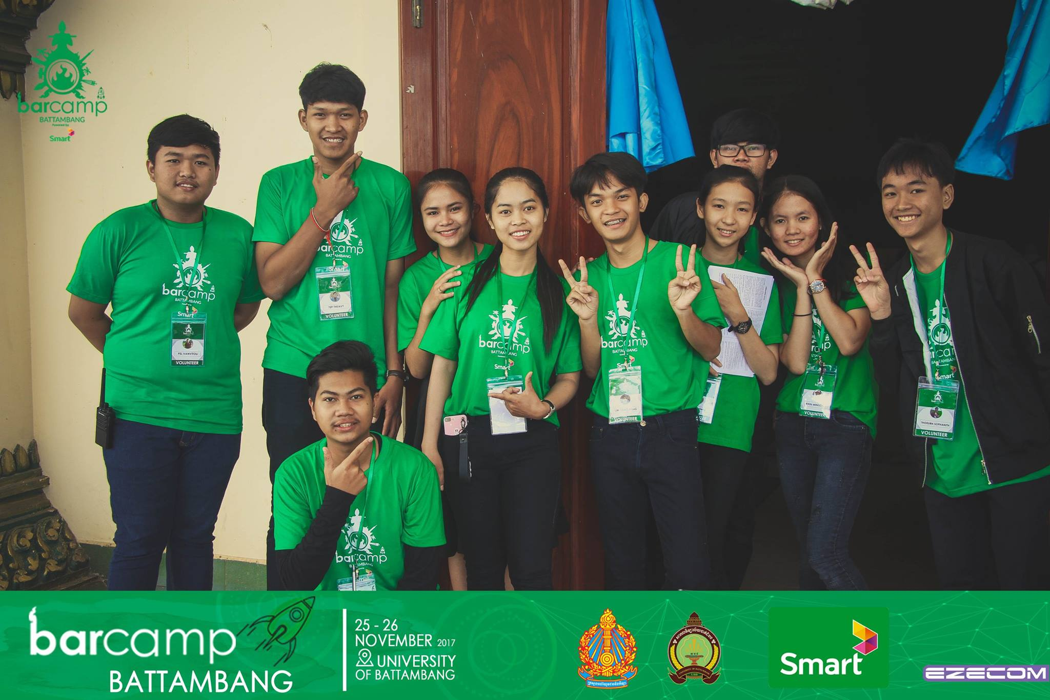 Barcamp Battambang's Youth Volunteers  Photo Source: BarCamp Battambang Facebook Page