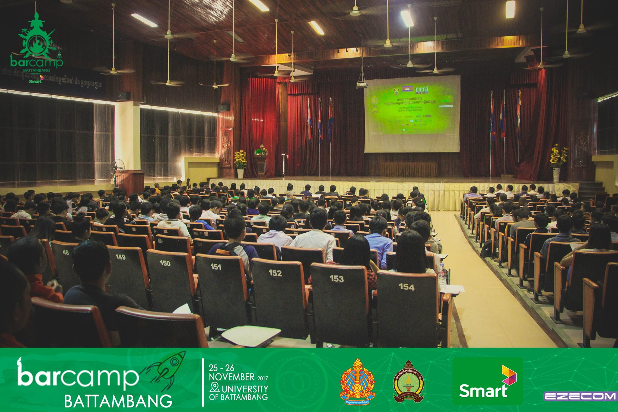 This year's BarCamp Battambang saw a multitude of attendees for its power-packed course of events Photo Source: BarCamp Battambang Facebook Page