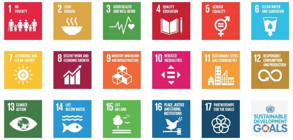 List of the UN's 17 Sustainable Development Goals  Source: United Nations' Sustainable Development Goals Website
