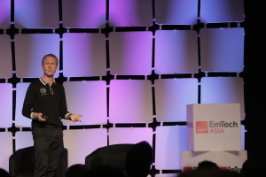 Adam Gilmour speaking at EmTech Asia 2018. Photo Credits: EmTech Asia