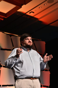 Joseph Fitzsimons speaking at EmTech Asia 2018. Photo Credits: EmTech Asia